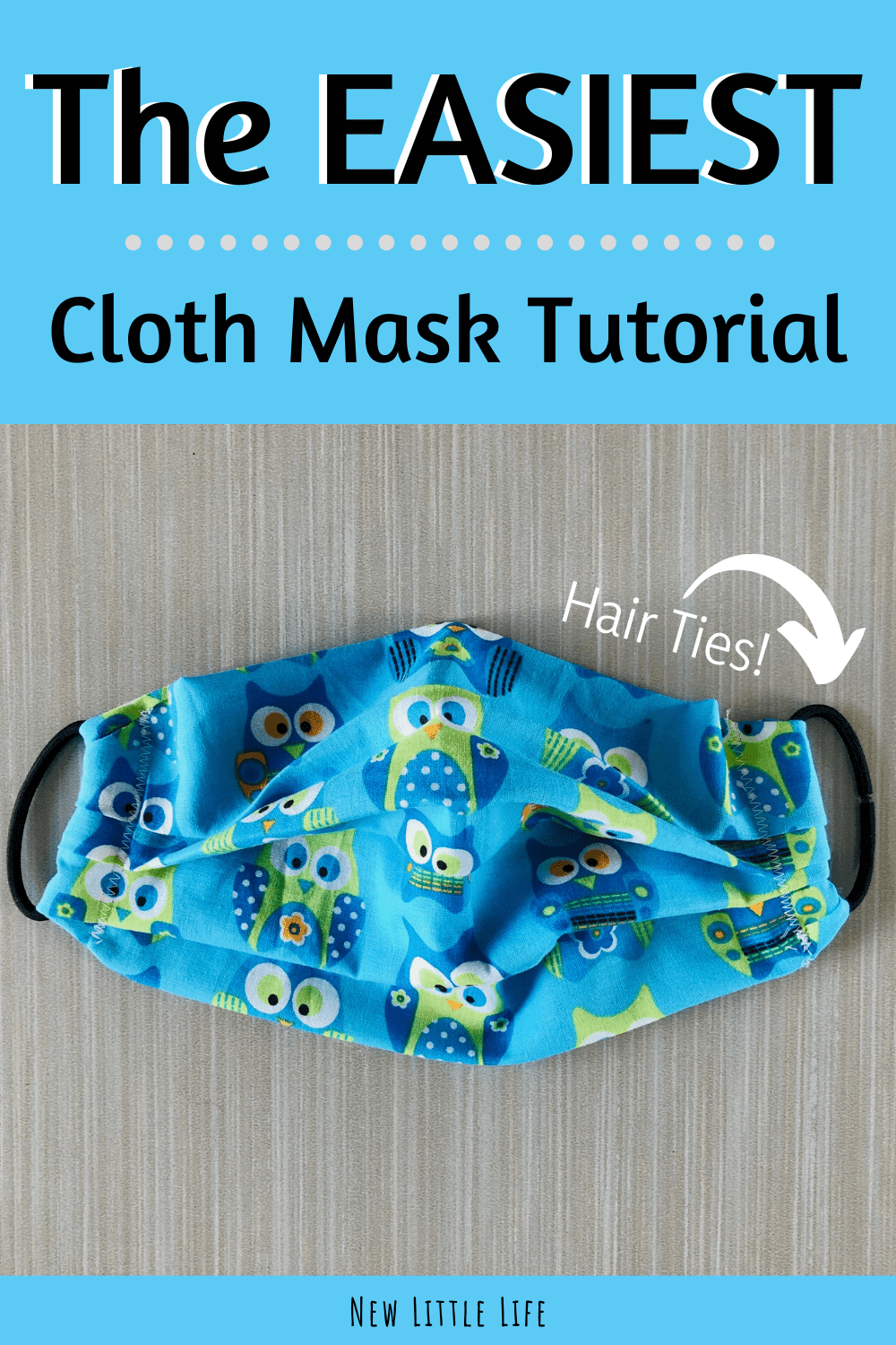 The EASIEST DIY Cloth Face Mask Tutorial - Beginner Sewing