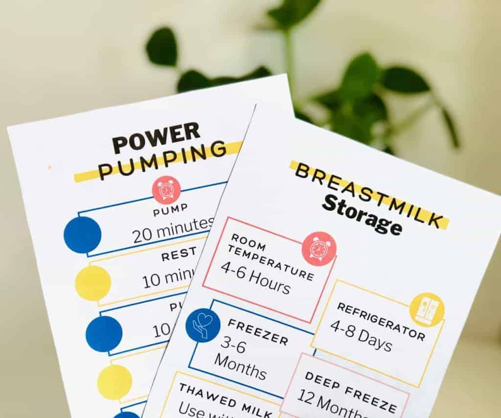 breastfeeding gift basket - printable downloads