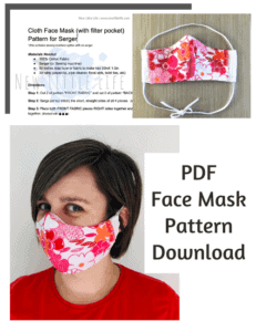 Face Mask Pattern download for serger