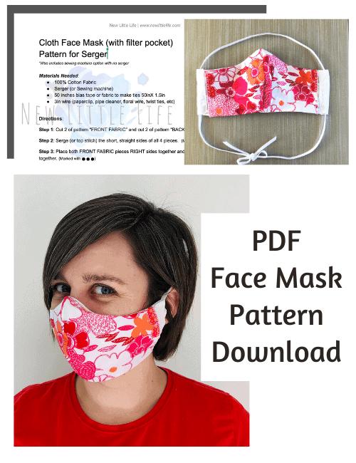 Face Mask Pattern download for serger